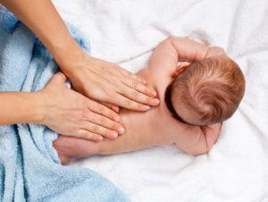массаж грудничкам растирание